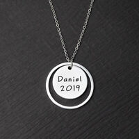 Personalized Name Necklace Custom Nameplate Necklace Silver Jewelry Gift for Her