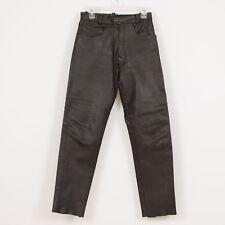 """Men's Leather Pants Size S Small Waist 28"""" Black Cowhide VANGUARD"""