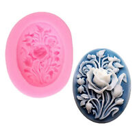 Rose Flower Silicone Fondant Mold Cake Decor Chocolate Sugarcraft Baking Moul FE