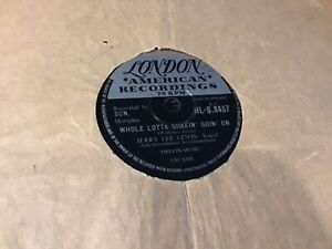 JERRY LEE LEWIS WHOLE LOTTA SHAKIN GOING ON RECORD 78 rpm