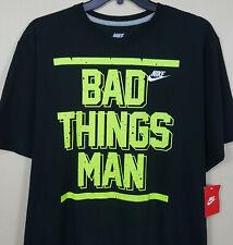 NIKE BRUCE SMITH BAD THINGS MAN '94 SHIRT BLACK VOLT RARE 633048-010 (SIZE 3XL)