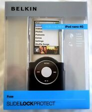 Belkin Negro/bloqueo Slide transparente el caso para Apple iPod Nano 4G/4th Gen