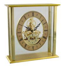 Widdop Brass Analogue Desk, Mantel & Carriage Clocks