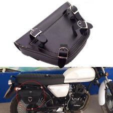 Black Motorcycle Saddle Box Sissybar Tool Bag Pouch Bicycle Pocket PU Leather 1x