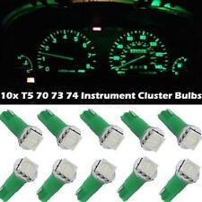 10x For Nissan T5 17 37 73 74 79 Wedge Instrument Dash LED Light Bulb Lamp Green