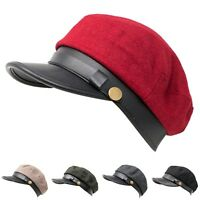 Women's Fashion Ivy Newsboy Cabbie Sun Cap Golf Hat Multiple Solid Color Summer