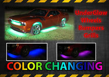 18 Color x8 LED Strip Under Car Tube underglow Underbody System Neon Lights Kit