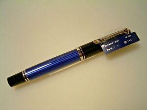 *SALE* PELIKAN M405 Füllhalter, blau gestreift/rhodiniert; M Feder