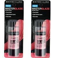 2 x MAYBELLINE Master Glaze Blush Stick - 10 Just Pinched Pink 100% Brand New