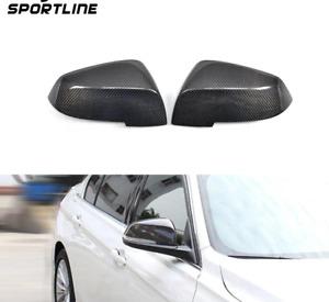 Pair replacement Carbon Fibre Wing door Mirror Cover Cap BMW F20 F30 F31 F32 F34