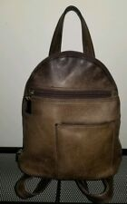 Tignanello Brown Leather Backpack Purse