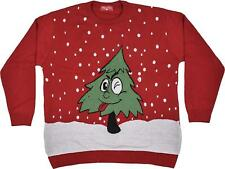 Unisex Kids Christmas Jumper Girls Boy Xmas Jumpers Christmas Tree With Wink Eye