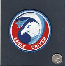 F-15 EAGLE DRIVER USAF Boeing McDonnell Douglas FS Fighter  TFS Squadron Patch