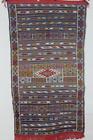 Vintage Moroccan Middle Atlas Berber Flatweave Kilim Rug - Handmade ~53