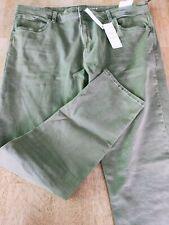 2xl {40] mens PHOENIX SLIM TAPERED denim jeans light wash green {rrp $39.00}