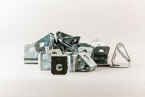 Pool Fence U-Clip Galvabond (Packet of 100) To suit 8mm Wire