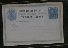 Venezuela  postal  card  10 cent blue  unused     PS0401
