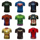 Hot Vogue Men's Short Sleeve 3D Super Hero Printed Loose Shirts Basic Tee Tops