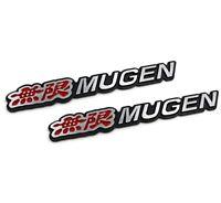 3D Aluminum MUGEN Car Front/Rear Badge Fender Body Emblem Decal Stickerx2