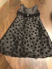 Size L 10 - Cherokee Shimmery Velvet Black lined Girls Party Dress Christmas