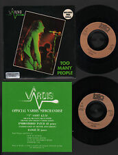 "7"" VARDIS TOO MANY PEOPLE / THE LION'S SHARE + FREE SINGLE BLUE ROCK + INSERT"