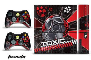 Skin Decal Wrap for Xbox 360 E Gaming Console & Controller Sticker Design TOXIC