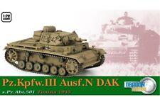 Dragon 60603 - 1/72 German Pzkpfw. III Ausf. N - Dak Tunisia 1943 - New