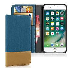 Tasche für Apple iPhone Hülle Book Case Flip Cover Handytasche Kartenfäch Etui