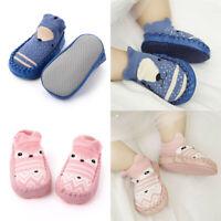 Newborn Baby Kids Toddler Socks First Walker Shoes Boots Soft Anti Slip Cartoon