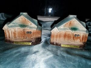 Ceramic Ponderosa Ranch Nevada TV Hoss Lake Tahoe Salt & Pepper Shakers