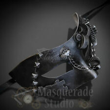 Men's 2017 Steampunk Costume Classic Halloween Masquerade Ball Mask [Silver]