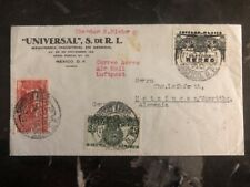 1937 Mexico City Mexico Commercial Cover To Germany