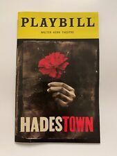 PLAYBILL program - HADESTOWN - Broadway Musical (2019) - FREE SHIPPING!