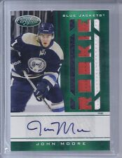 11-12 2011-12 CERTIFIED JOHN MOORE EMERALD ROOKIE PRIME JERSEY AUTO RC 1/5 216