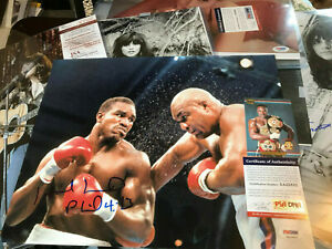 """Evander Holyfield auto PSA/DNA COA Signed """"Battle of the Ages"""" autograph 11x14*"""