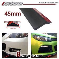 Universal 45MM Front Bumper Lip Spoiler Rubber Side Skirt Protector Black 1.5M