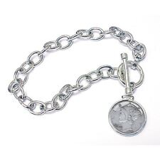 Toggle Dime Coin Bracelet 1936 New Year to Remember Sterling Silver