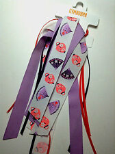 Gymboree Cherry Blossom Line Fan Paper Lantern Ribbon Ponytail Holder NWT Purple