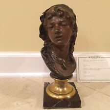 "Auguste Rodin (French) ""Suzon"" Bronze Bust of a Lady Sculpture"