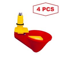 Automatic Poultry Drinker Cups Waterer 4 pcs Chickens, Quail, Ducks