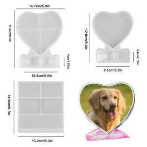 Photo Frame Resin Mold For Heart Shape DIY Epoxy Silicone Making Mould Kit Gifts