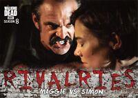 Walking Dead Season 8 Part 1 RIVALRIES Insert Card R-5 / MAGGIE VS. SIMON