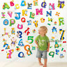 Large Animal Letter ALPHABETS+NUMBERS Nursery Wall Stickers Kid Early Learning