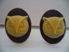 Owl Cameo Cufflinks Cuff Links *30 Cl035 Steampunk Victorian Gothic Goth Punk