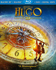 Hugo (Blu-ray/DVD, 2012, 3-Disc Set, Limited 3D Edition) With Slipcover