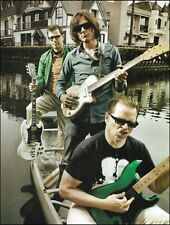 Weezer Rivers Cuomo with Gibson Sg Guitar & band mates 8 x 11 color pin-up photo