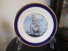 "Antique Plate Lenox Special Clipper Ship Sailboat Sailing Plate 10 1/2"" Nautical"