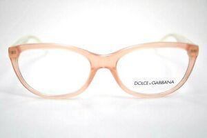 New DOLCE & GABBANA DG3141 2587 55mm Peach Powder Transparent Eyeglasses Frames