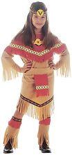 CARNEVALE COSTUME VESTITO INDIANA RAGGIO DI LUNA BAMBINA 11/13 ANNI