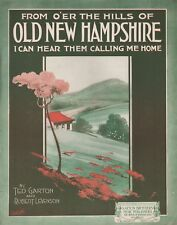 Sheet Music From O'er The Hills Of Old New Hampshire I Can Hear Them Calling Me